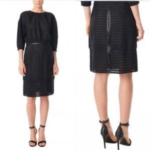 TIBI Lace Pattern Knee-Length Skirt